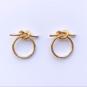 Jewelry - GOLD HOOP STUD UNISEX EARRINGS